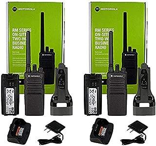 Qty 2 Motorola RMV2080 VHF 2 Watt 8 Channel High Power Business Radio