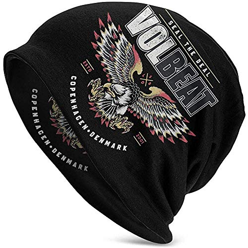 Mamihong Stilvolle Volbeat Adult Herren Strickmütze Muster Baggy Cap Hedging Kopf Hut Top Level Beanie Mütze 2369854-KMB-14647