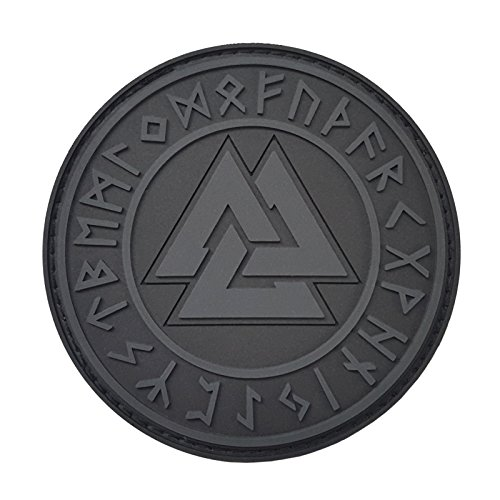 2AFTER1 ACU Subdued Valknut Norse Heathen Rune Odin Viking Runic Pagan Morale PVC Rubber Fastener Patch