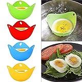 T.face Huevos furtivos de Silicona, Egg Cooker Tazas de Huevos escalfados antiadherentes, Huevo furtivo para microondas, Tazas de Huevo furtivo de Silicona sin BPA (4 Paquetes)