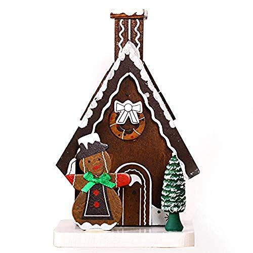 Buiten Beeld Buste Kerstversiering Houtwerk Handgeschilderde Sigarettenhuis Gerookte Oven Decoratie Heeft Bijpassende Geschenken Nodig