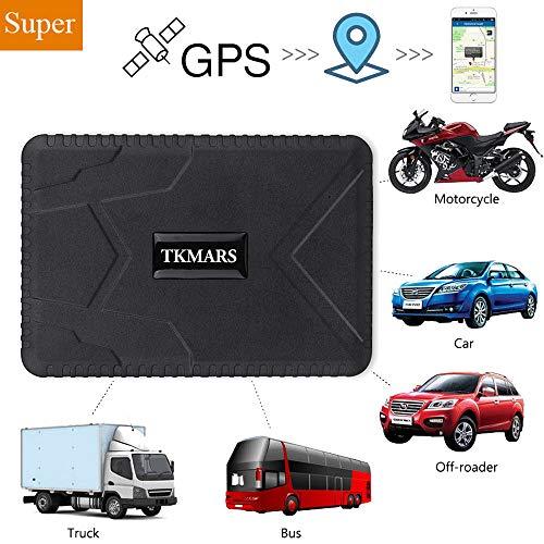 GPS-tracker, 3 maanden lang stand-by GPS-detectie, waterdicht, real-time tracking, GPS-locator, professioneel anti-verloren GPS-alarm cartracker voor auto, vrachtwagen, moto vriezer, boot met gratis app