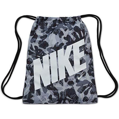Nike Saco de gimnasio gráfico para niños (negro/blanco)