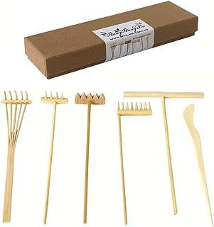 Zen Rake Mini Zen Garden Rakes ,Meditation Sand Zen Garden Tools, DIY Rock Zen Garden Kit Sets, Fidget Toy, Zen Garden Acc...
