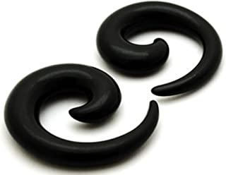 Black Acrylic Spirals - Sold As a Pair