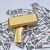 Jackky Super Money Guns,Dollar Gun (Metallic Gold),Toy Gun Handheld Cash Gun for Party Celebration