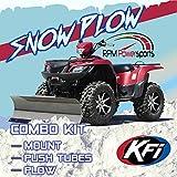 RPM KFI ATV 60' Snow Plow Kit Combo Yamaha Grizzly 660 700 2002-2020