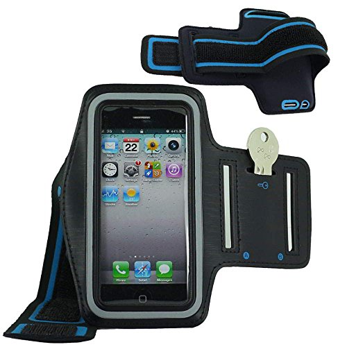 ebestStar - Fascia Braccio Sportiva Compatibile con iPhone SE 5S 5 Cover Sweatproof Bracciale, Armband Supporto Chiave Corsa Jogging Esercizi Palestra, Nero [Apparecchio: 123.8 x 58.6 x 7.6mm, 4.0'']
