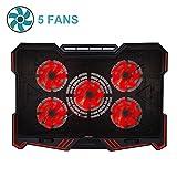 BUJIAN BJ-1 Red LED Lights 5 Powerful Fans Laptop...