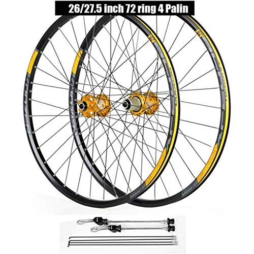 ZHTY 700C Bike Wheelset, 26 27.5 29 Inch Cycling Wheels Mountain Bike Disc Brake Quick Release 4 Palin Bearing 8 9 10 11 Speed Bike Wheels