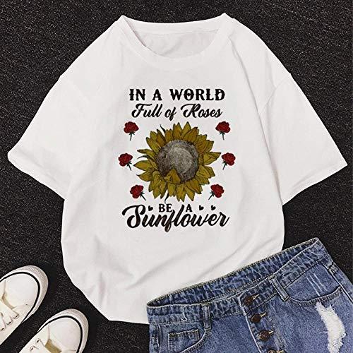 T-Shirt Femme Tshirt New Summer O-Neck Manches Courtes T-Shirt Mignon De Bande Dessinée Femmes XL 11500