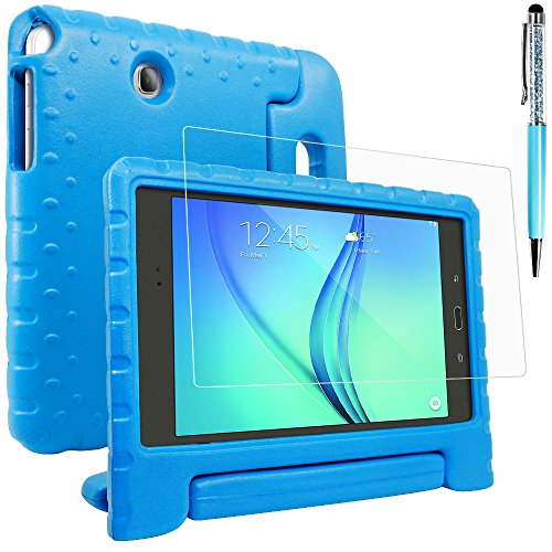 Funda Case para SamsungGalaxy Tab A 8.0 SM-T350 con protector de pantalla y lápiz, AFUNTA Convertible mango Stand EVA, Plástico PET Película Protectora y lápices ópticos para tableta Tablet 8 pulgada