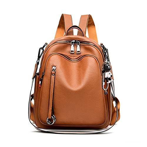 BUKESIYI Women's Backpack Handbags Rucksack Shoulder Bags PU Leather Mini Kawaii Anti-theft CCUK78232 Brown