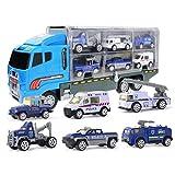 Eeneme Transporte Carrier Truck Toys Vehículos Juguete Coche Set con Mini Aleación Coches Regalo para Niños Niñas