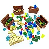 Treasure Accessories Set Building Blocks Bullion Money Gold Bar Jewelry Toy Parts Brick