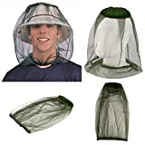 Hicollie 4 Stück Moskitonetz für Hüte Anti-Insekten Gesicht und Hals Schutznetz Abdeckung Mesh Schutzabdeckung Maske Gesicht Anti-Mücken Bienen Käfer Insekten für Outdoor-Aktivitäten