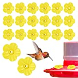 20 PCS Hummingbird Feeder Parts Replacement Flowers, Plastic Hummingbird Feeders, Feeding Ports Replacement Bird Feeder Replacement Parts for Hummingbird Feeder Hanging Feeder