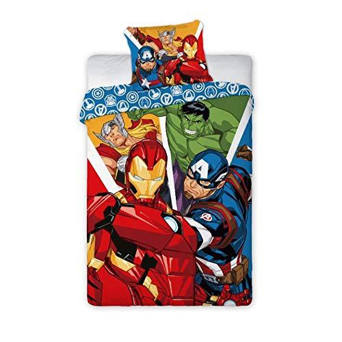 Unbekannt Avengers 019 Marvel Bettwäsche Kinderbettwäsche 140x200 cm + 70x90 cm