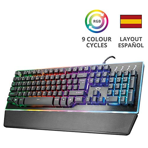 Trust Gaming GXT 860 Thura - Teclado Gaming LED semi mecánico, color...