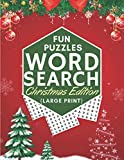 Fun Puzzles Word Search Christmas Edition Large Print: Easy Large Print Puzzle Book for Adults & Kids Great Christmas Gift Grandma