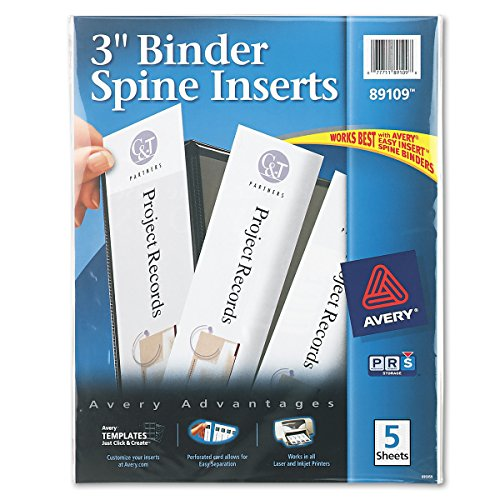 Avery 89109 Binder Spine Inserts, 3