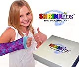 Shrinkins The Healing Art Washable Removable Cast Decorating Cover Party Kit~ Fun, Fashionable Creative Shrink Wrap Decorations for Arm & Leg Casts ~ Uses No Adhesive – Adult & Child Mix