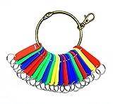 Nument Retro Bronze Large Circular Ring Metal Keychain Warehouse Hotel Manage Keychains Holder Key Ring (Round Keychain+Key Label Tags 20pcs)