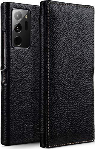 StilGut Book Hülle kompatibel mit Samsung Galaxy Note 20 Ultra Hülle aus Leder mit Clip-Verschluss, Lederhülle, Klapphülle, Handyhülle - Schwarz