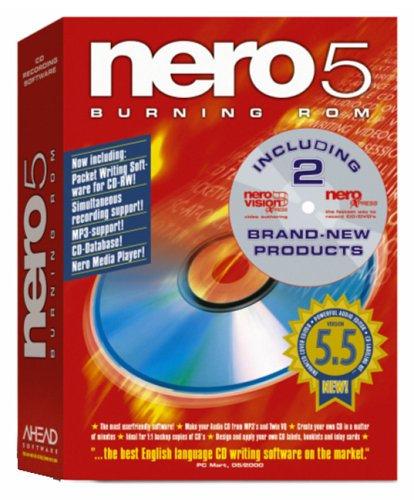 Nero 5.5 Burning Rom with FREE new VisionExpress & Express (new version is Nero 6 Power Suite, asin: B0001YLLPI)