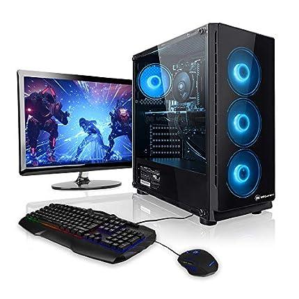 """Pack Gaming - Megaport PC AMD Ryzen 5 3500X • 24"""" Full-HD • Teclado y ratón Gaming • GeForce GTX1660 6GB • 16GB DDR4 • Windows 10 • 1TB HDD • 240GB SSD • PC Gamer • Ordenador de sobremesa"""