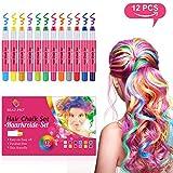 BEAU-PRO Haarkreide für Kinder Auswaschbar und ungiftige 12 Farben Temporäre Hair Chalk Set für...