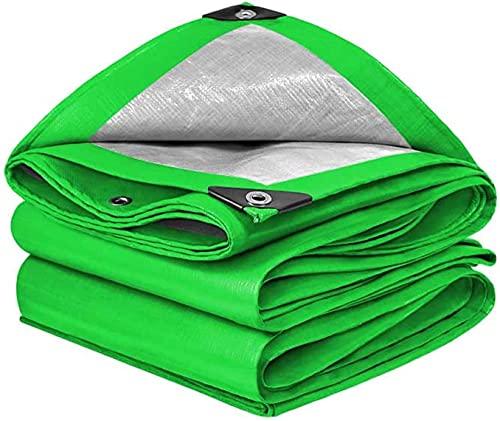 CHGDFQ Lona grande de polietileno verde lona resistente, multiusos resistente a los rayos UV, cubierta de tienda de campaña para muebles de jardín, camión de piscina, resistente al agua, 160 G/M & su