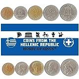 5 Monedas Diferentes: Moneda Extranjera Griega Antigua Coleccionable para Coleccionar Libros, Juegos De Dinero Únicos Y Mundiales, Regalos para Coleccionistas