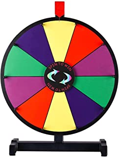 "WinSpin 15"" Prize Wheel 10 Slots Clicker Tabletop Spin Dry Erase Marker & Eraser Fortune Game Tradeshow Carnival"