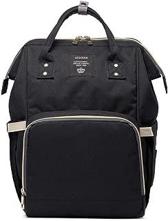 Large Capacity Fashion Waterproof Mummy Diaper Bag- Black