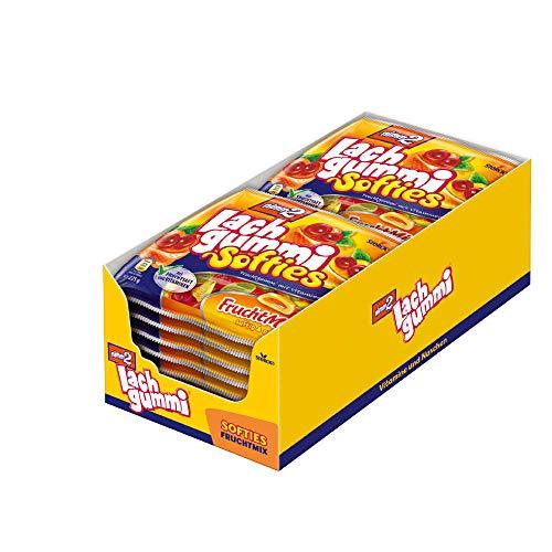 nimm2 Lachgummi Softies Fruchtmix (18 x 225g) / Fruchtgummi mit Fruchtsaft und Vitaminen