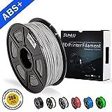 SUNLU ABS Plus 3D Printer Filament, ABS Filament 1.75 mm, 3D Printing filament Low Odor Dimensional Accuracy +/- 0.02 mm, 2.2 LBS (1KG) Spool,Grey ABS+