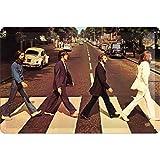 Nostalgic-Art Cartel de Chapa Retro Fab4 – Abbey Road – Idea de Regalo para los Fans de los Beatles, metálico, Diseño Vintage Decorativo, 20 x 30 cm