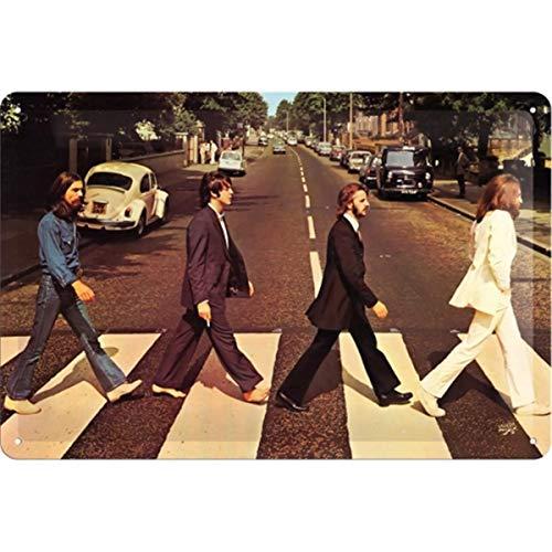 Nostalgic-Art Retro Blechschild Fab4 – Abbey Road – Geschenk-Idee für Beatles-Fans, aus Metall, Vintage-Design zur Dekoration, 20 x 30 cm