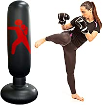Inflatable Punching Bag Boxing Punch Bag Kid`s Kickboxing Bag Free- Standing Fitness Target Stand Tower Bag Free Standing ...
