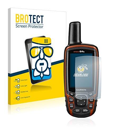 brotect Pellicola Protettiva Vetro Compatibile con Garmin GPSMAP 64s Schermo Protezione, Estrema Durezza 9H, Anti-Impronte, AirGlass