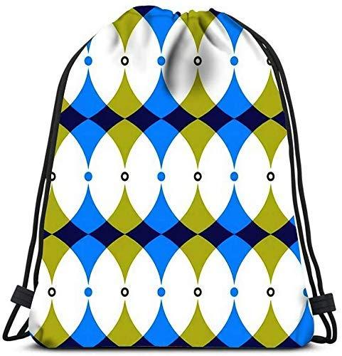 Zaino IUBBKI con coulisse, forme geometriche astratte colorate di curve e cerchi Square Composit Travel Gym Bag Borse di stoccaggio Zaino Borse a tracolla