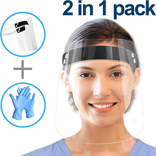 Full-face Protective Cap for Men and Women, Anti-Fog, Anti-saliva, Windproof Dustproof 3 in 1 Pack