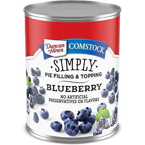 Comstock Simply Pie Filling & Topping, Blueberry, 21 Ounce (Pack of 8)