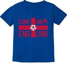 Tstars - Come On England Soccer Fans UK Flag Toddler Kids T-Shirt