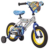 Nickelodeon Paw Patrol Bicycle for Kids, Featuring Chase on a Silver Steel Frame, Includes Training Wheels, 12-Inch Wheels