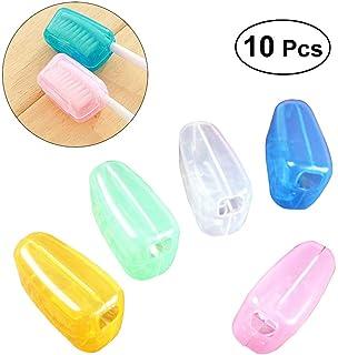 ROSENICE ポータブル歯ブラシヘッドカバーのケースキャップは、旅行の口腔の健康のために10pcsを保護する