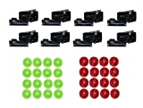 LEGO Parts and Pieces: Black Stud Shooter Blaster Plate with Ammo x8