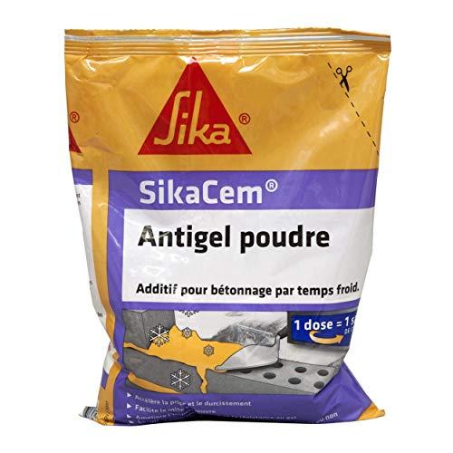 SikaCem Antigel Poudre, Additif pour bétonnage par temps froid, 700g, Beige