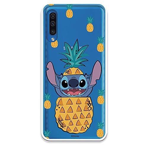 Funda para Samsung Galaxy A50 Oficial de Lilo & Stitch Stitch Piñas para Proteger tu móvil. Carcasa para Samsung de Silicona Flexible con Licencia Oficial de Disney.
